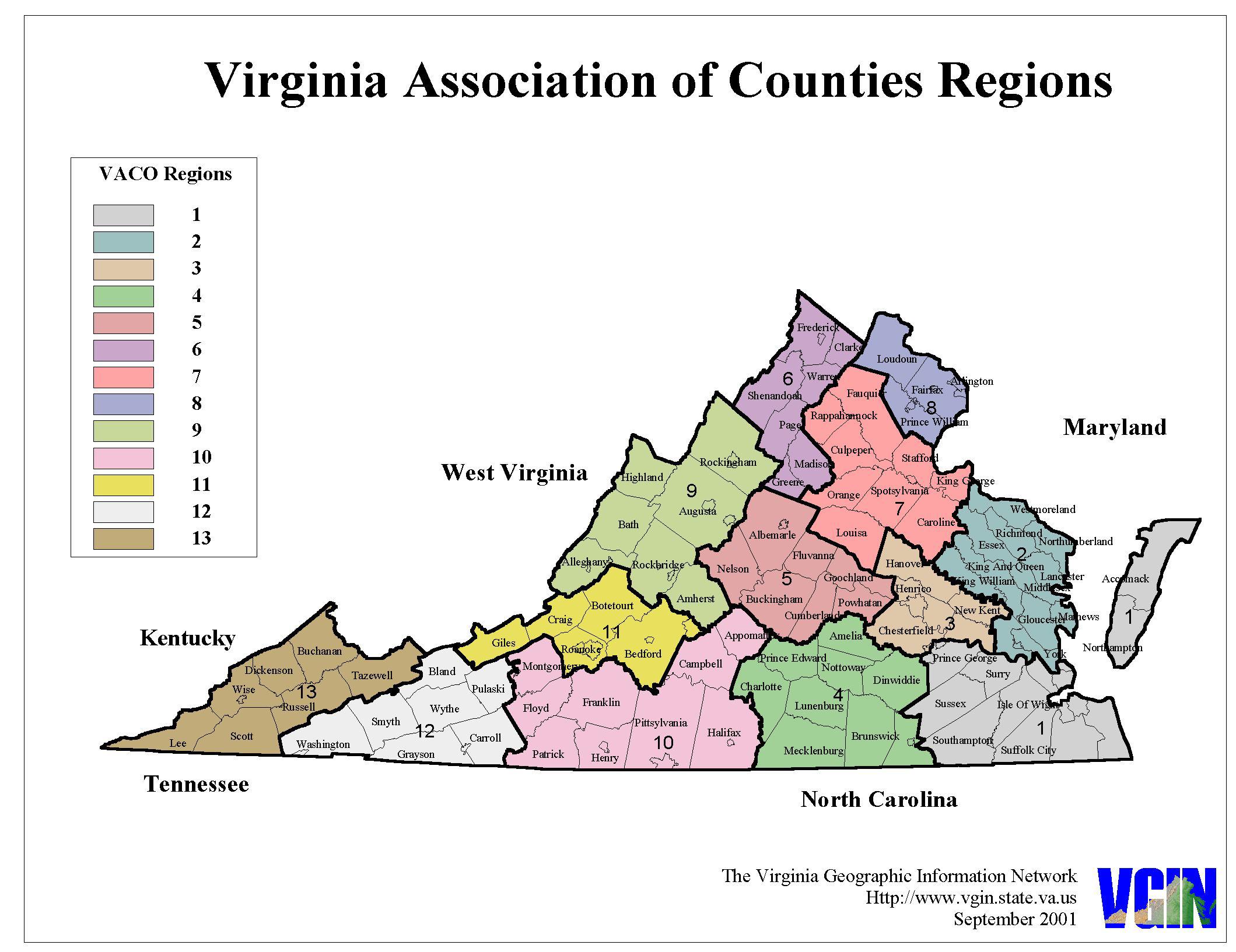 Map Of Virginia Counties 1800.Virginia Counties Map Regions Altizer Law