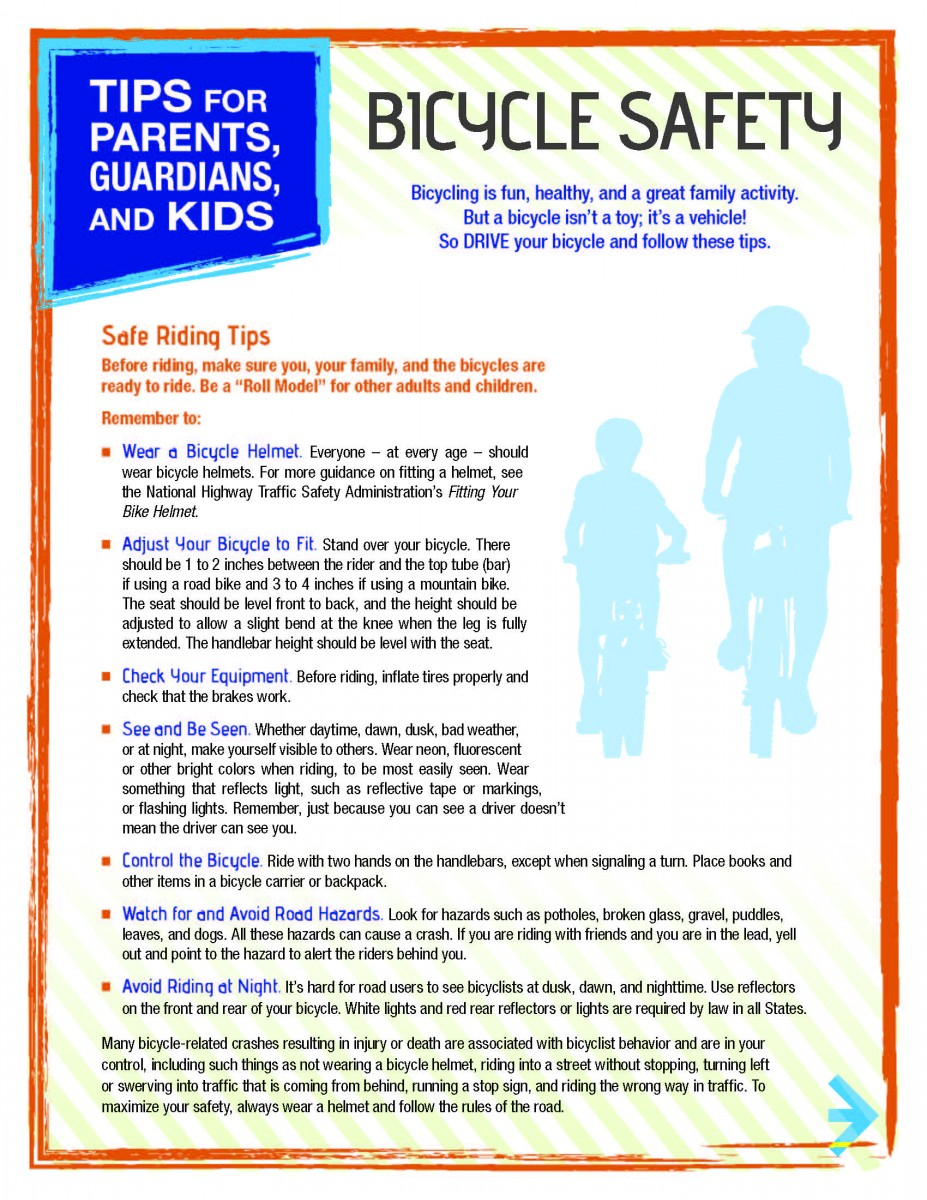 Bicycling Tips for Parents - Altizer Law, P.C.