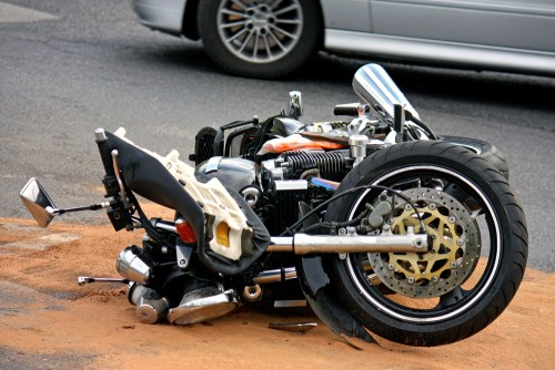 Delivery Truck Hits Motorcycle: Motorcycle Loses