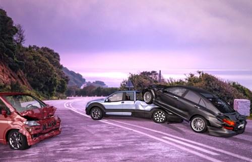 Liability in Three-Car Crashes