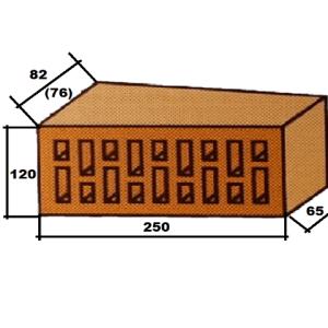 Фигурный клинкерный кирпич Lode Janka F82 торцевой клин