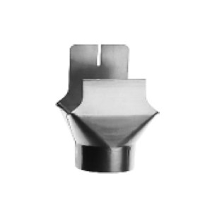 Воронка для водосточного квадратного желоба круглый выход цинк-титан RHEINZINK-prePATINA schiefergrau (тёмно-серый)