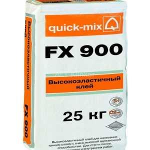 Плиточный клей, высокоэластичный Quick-mix FX 900