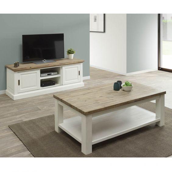 dresde ensemble table basse et meuble tv