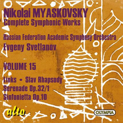 Myaskovsky: Complete Symphonic Works, Volume 15
