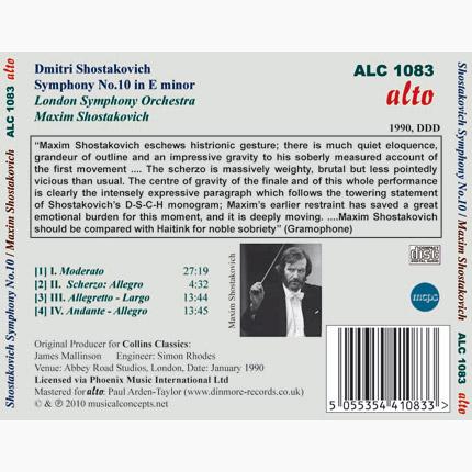 ALC 1083 - Shostakovich: Symphony No.10