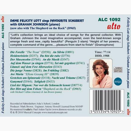 ALC 1092 - Favorite Schubert Songs