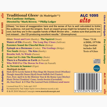 ALC 1095 - Traditional Glees & Madrigals