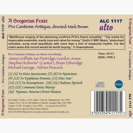 ALC 1117 - Gregorian Feast: Chants for Festive Days