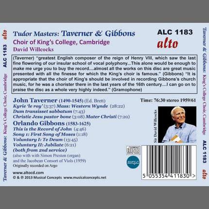 Tudor Masters: Taverner & Gibbons