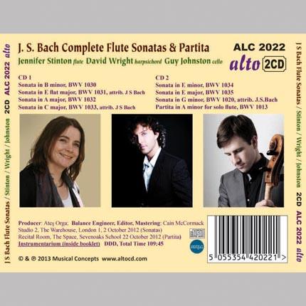 J. S. BACH  Complete Flute Sonatas & solo Partita
