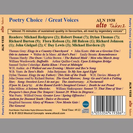 Poetry Choice / Legendary Voices