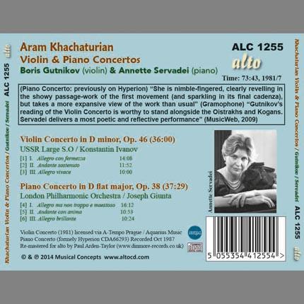Khachaturian: Violin & Piano Concertos