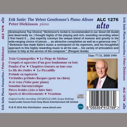 Erik Satie: 'Velvet Gentleman's' Album for Piano