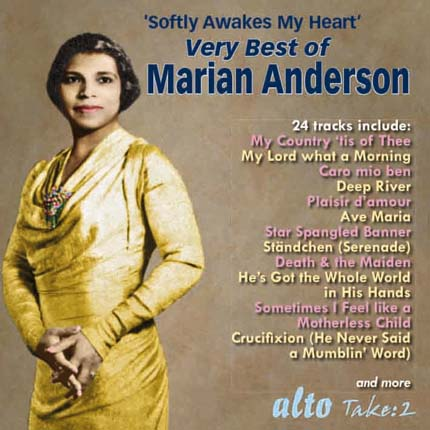 Very Best Of Marian Anderson Arias Songs Anthems Spirituals