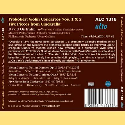 Prokofiev: Violin Concertos Nos. 1 & 2 Five Pieces from Cinderella