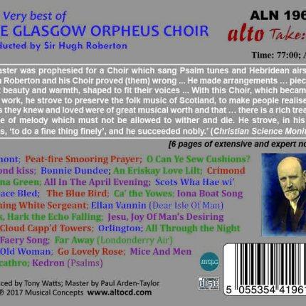 Very Best of the Glasgow Orpheus Choir