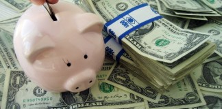 Piggy bank budget money