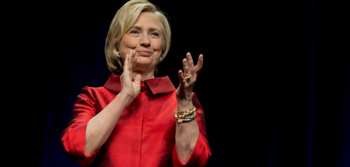 Hillary Rodham Clinton clapping