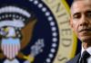 President Barack Obama looking down