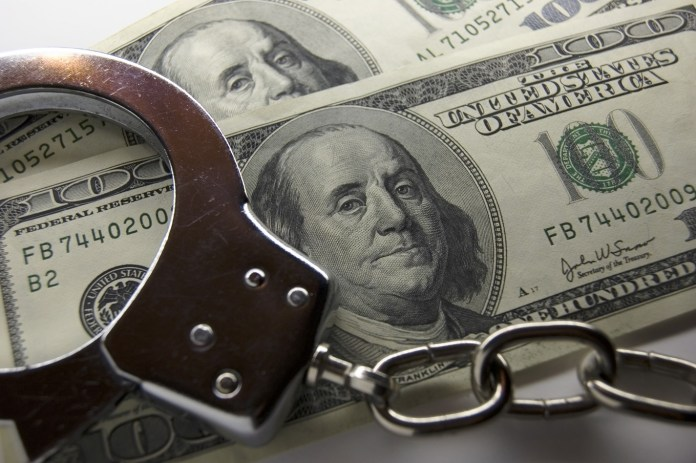 Money handcuffs