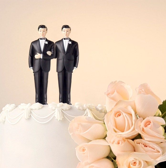 Grooms same-sex marriage wedding cake gay marriage