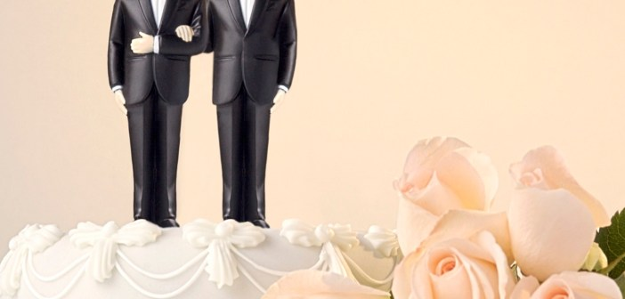 Grooms same-sex marriage wedding cake gay marriage