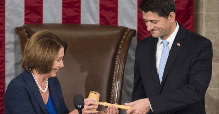 Paul Ryan receives gavel from Nancy Pelosi as House speaker