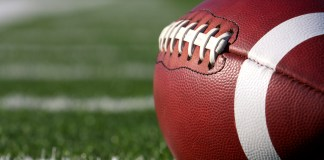 Football Close Up on Field