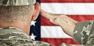 military flag salute