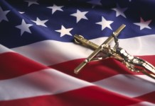 Religious Liberty_Christian_American flag_cross