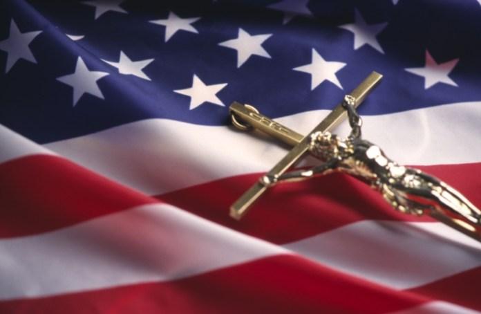 Religious Liberty_Christian_American flag_cross
