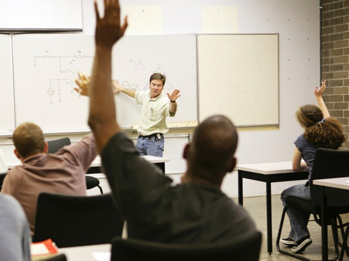 adult college education classroom