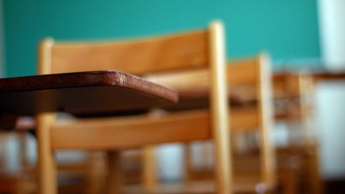 classroom empty student desks