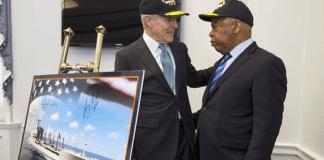 Navy Ray Mabus and John Lewis