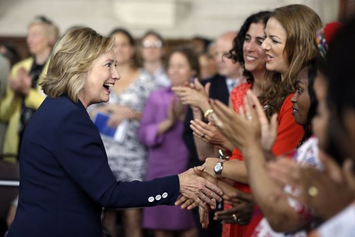 Hillary Clinton with women