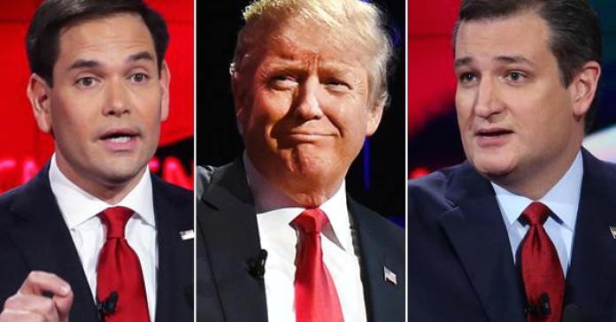 Marco Rubio Ted Cruz Donald Trump