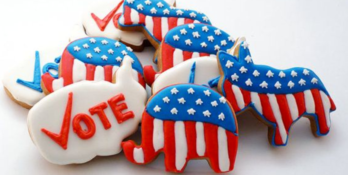Republican Democrat watch party cookies