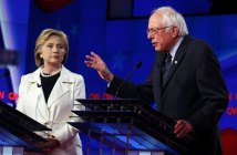 Hillary Clinton and Bernie Sanders debate