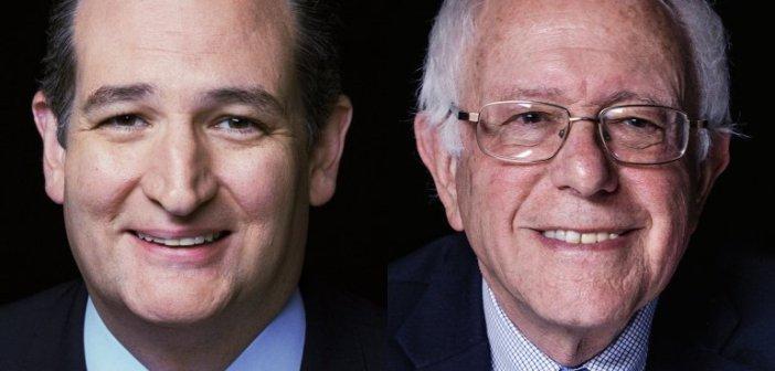 Bernie Sanders and Ted Cruz