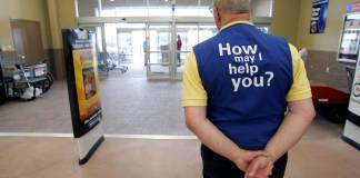 Walmart greeter
