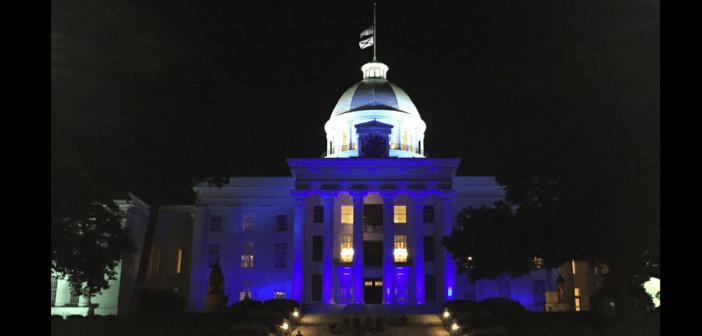 Alabama Capitol blue