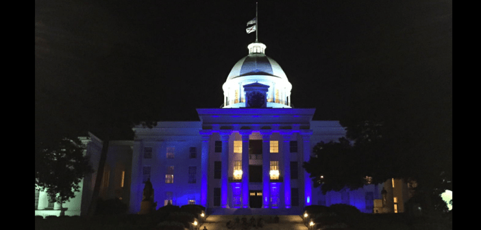 Alabama Capitol blue