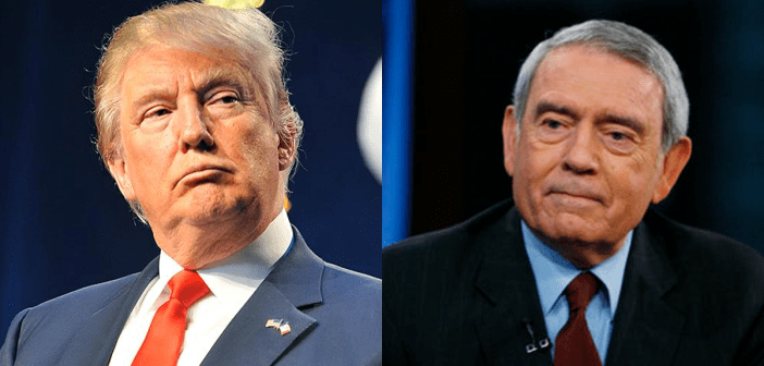 Donald Trump and Dan Rather