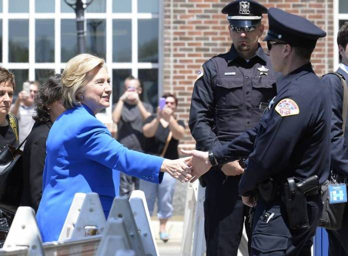 Hillary Clinton police officers