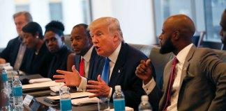 Donald Trump and Ben Carson black vote