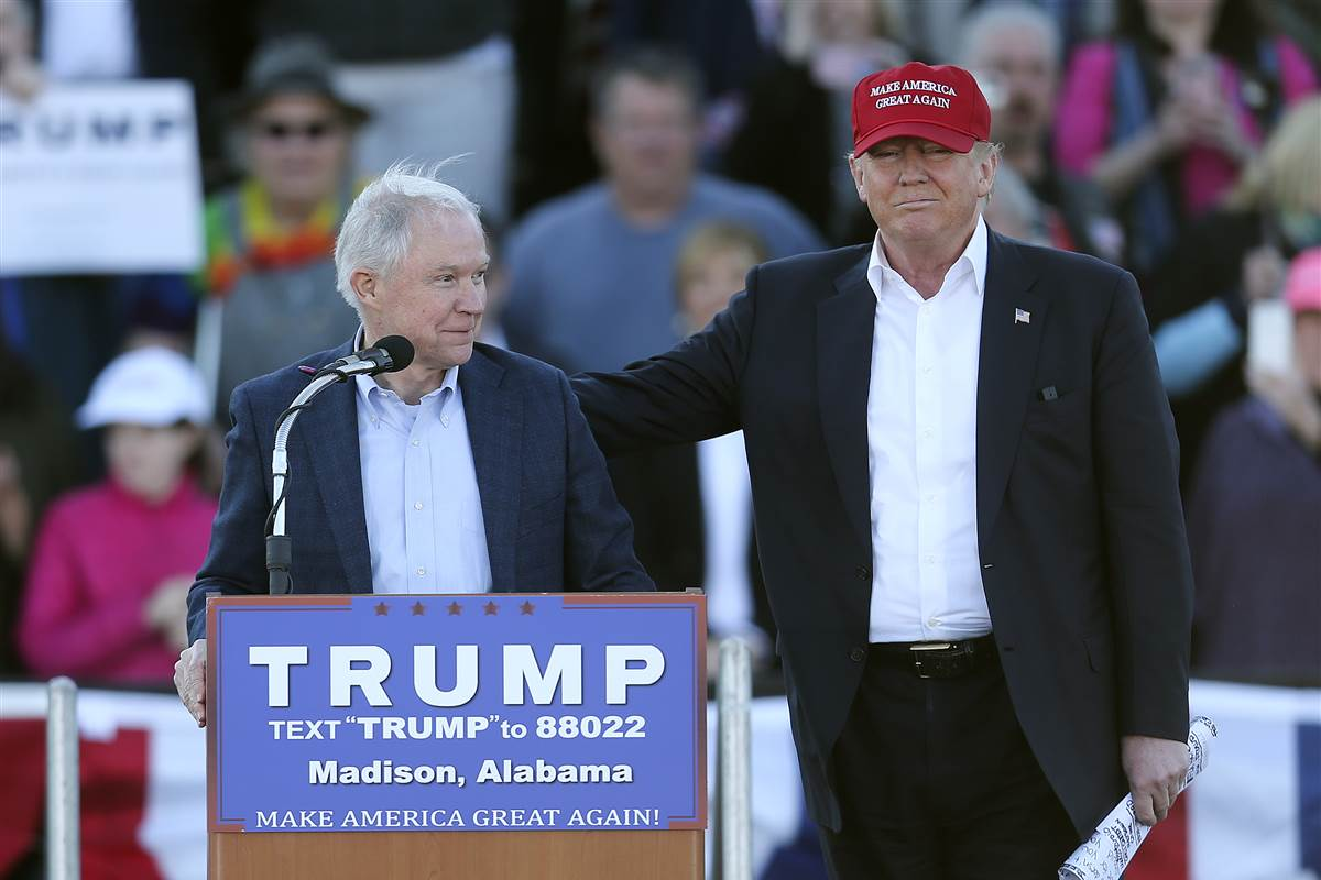 Image result for CONFIRM JEFF SESSIONS DONALD TRUMP