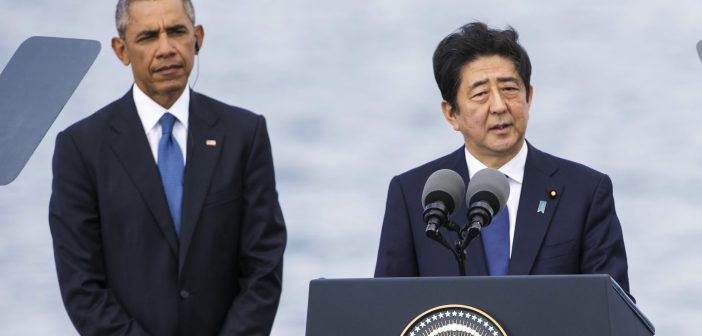 Barack Obama and Shinzo Abe
