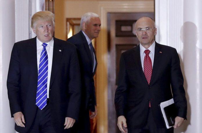 Donald Trump and Andrew Puzder