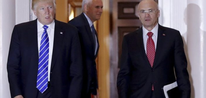 Donald Trump and Andrew Puzder